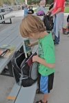 my son packing up a backpack