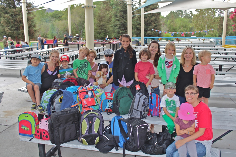 Our lovely group and all the backpacks!
